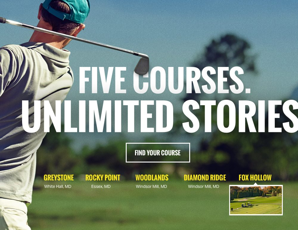 Golf course website design image