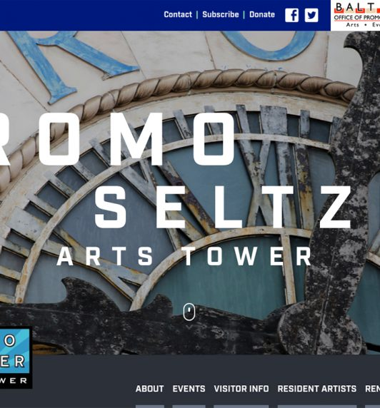Bromo Seltzer Arts Tower website designed by idfive