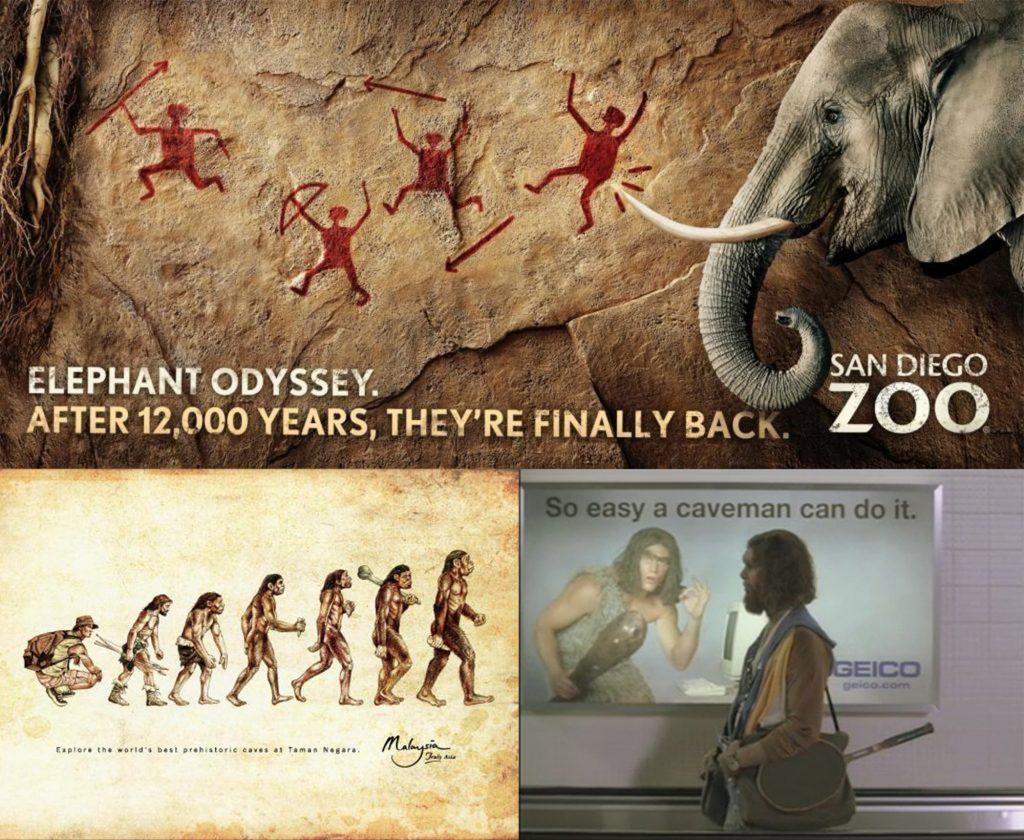 Caveman advertisements