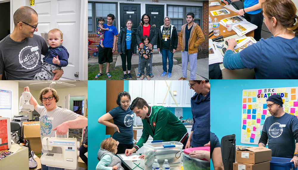 idfive employees volunteer with the International Rescue Committee
