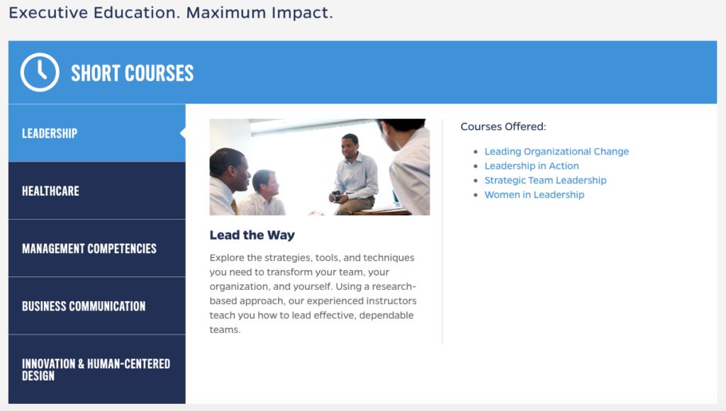 Johns Hopkins Carey Business School Website