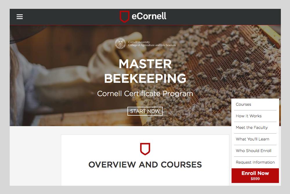 eCornell Beekeeping website