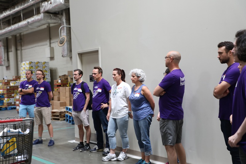 idfive team members does safety training at the Maryland Food Bank