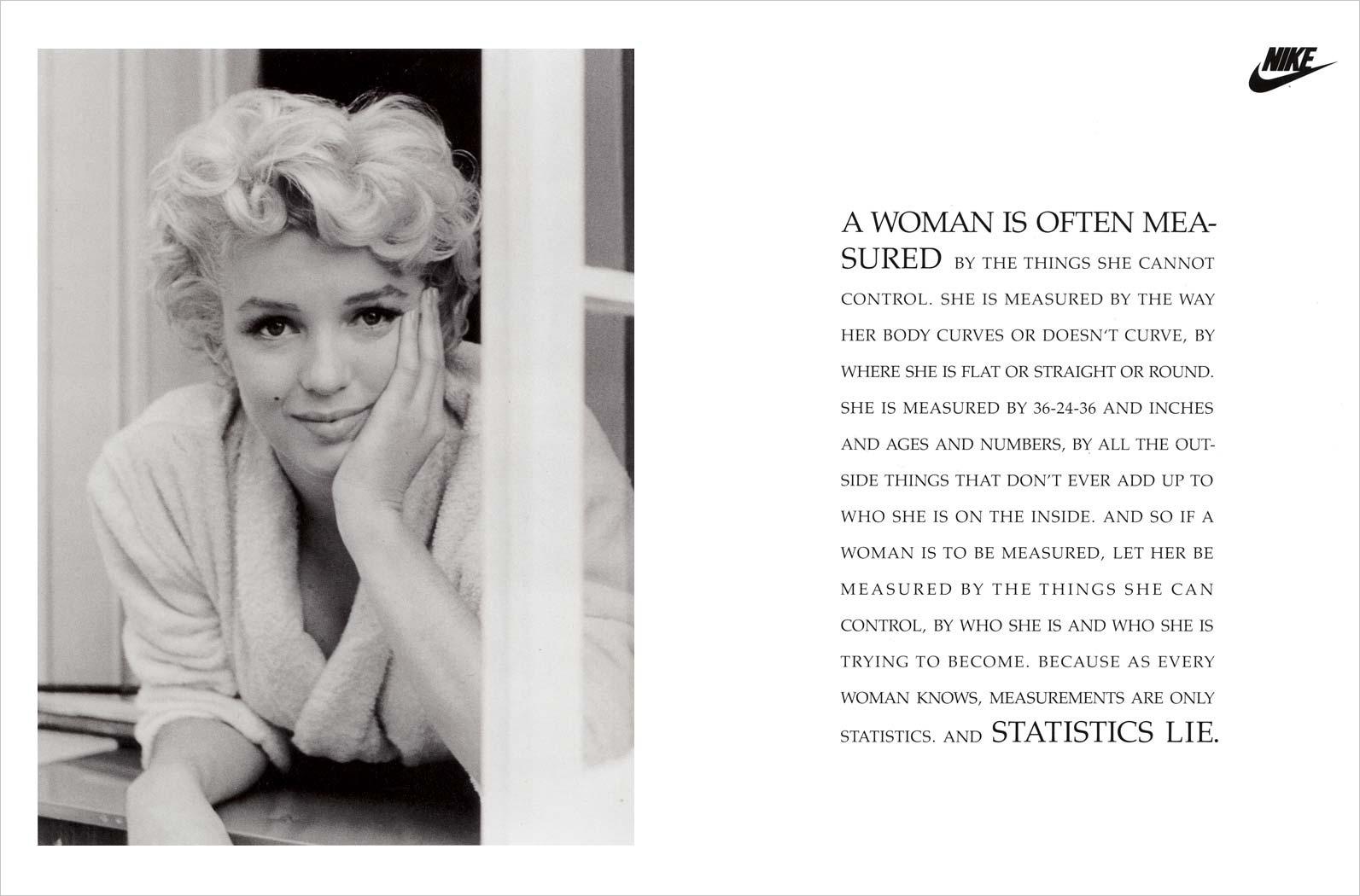 marilyn monroe Nike print ad